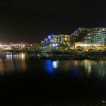 Eilat harbor by night
