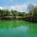 Swim Green. Private cenote at Blue Diamond Resort, Riviera Maya, Mexico