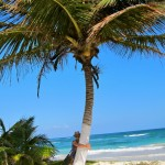 Tulum Palm Tree Hugging
