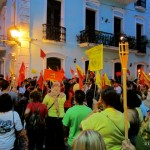 Protest in Old San Juan